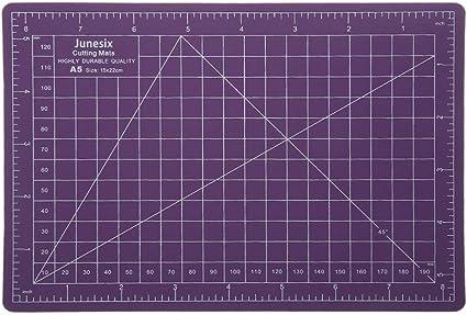 Crafts Two 22cm x 15cm Pink//Black 5 Layers PVC Self Healing A5 Cutting Mat