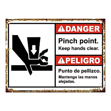 HALEY GAINES Danger Pinch Point Keep Hands Clear Placa ...