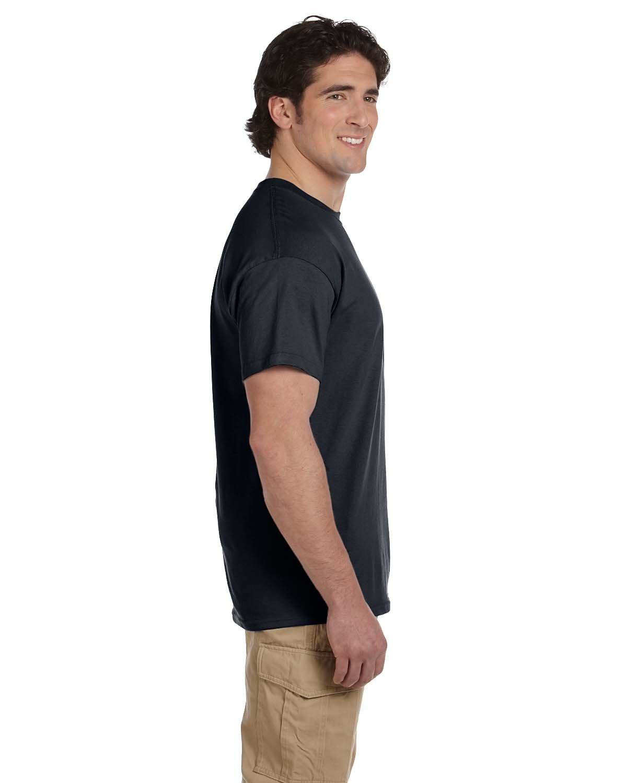 Gildan Men's Ultra Cotton Adult T-Shirt, 2-Pack, Black, Large