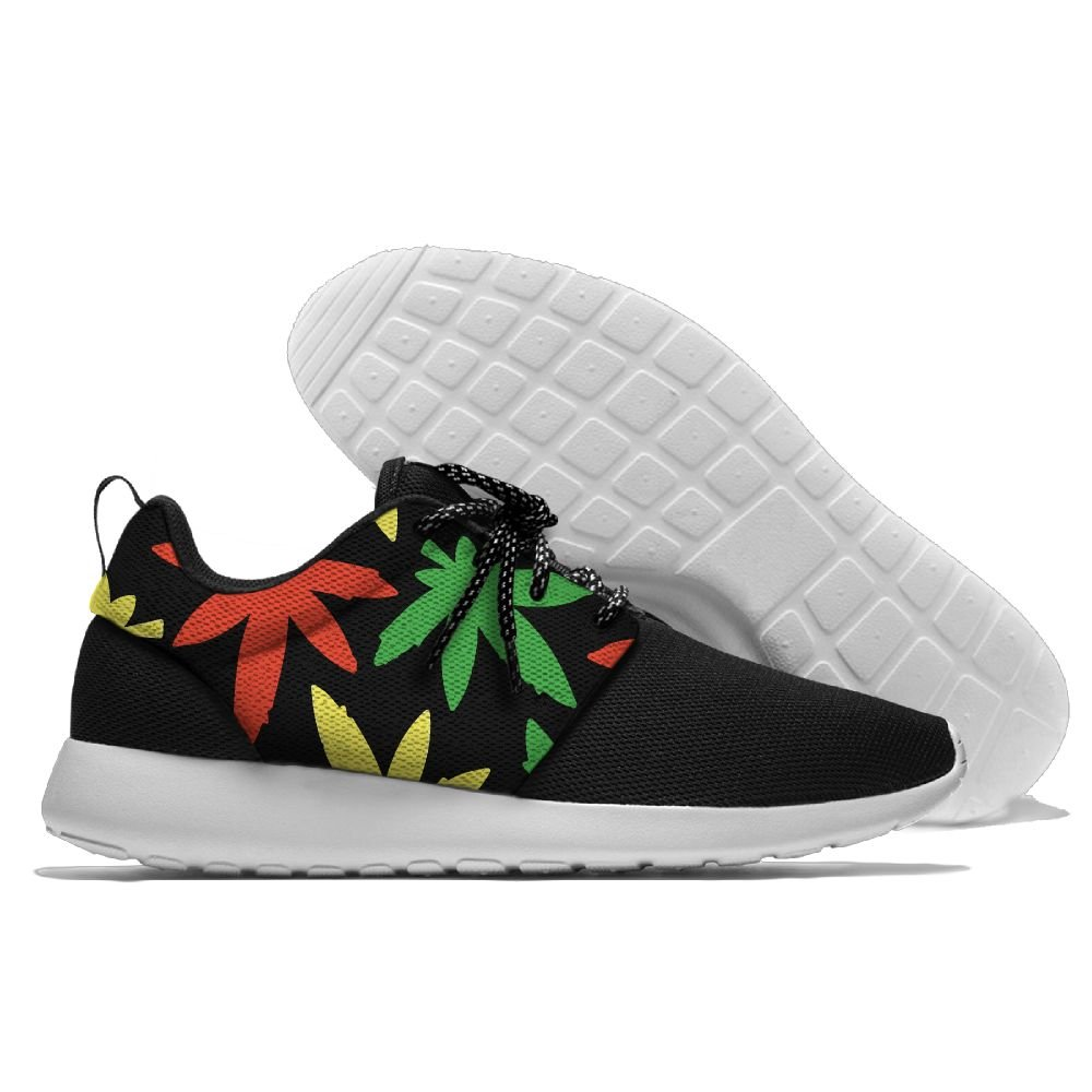Weed Leaf Cannabis Raggae Womens Mens Running Shoes Fashion Sneakers Casual Sports Shoes 46 Lightweight Breathable by MIRTI