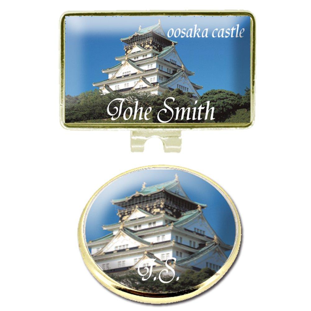 Umayasu Personalized Color Japanese Castle Golf Marker with Hat Clip Oosaka Castle