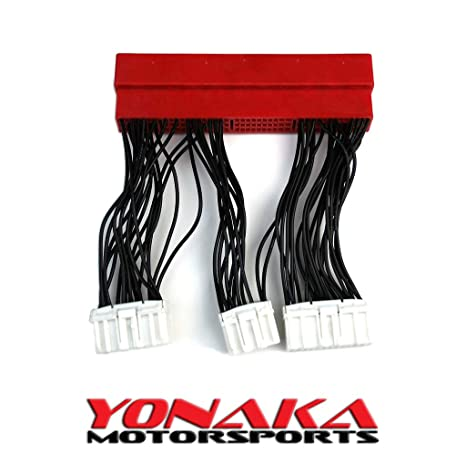 amazon com: yonaka compatible with honda/acura obd2a to obd1 plug and play  jumper conversion harness adapter: automotive