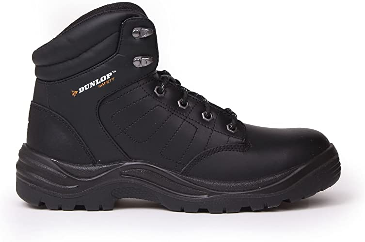Dakota work boots, safety shoes Black