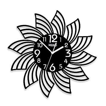 YONGMEI - Reloj de Pared para Sala de Estar o Dormitorio, diseño con Texto en inglés: Amazon.es: Hogar