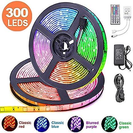 LED SMD Streifen Strip 5050 Wasserdicht Selbstklebend mit Kabel Auto Beleuchtung
