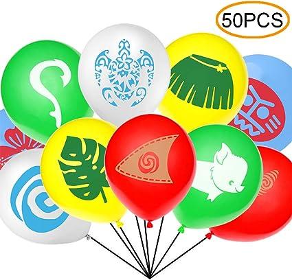 Amazon.com: 50 unidades de globos inspirados en Moana para ...