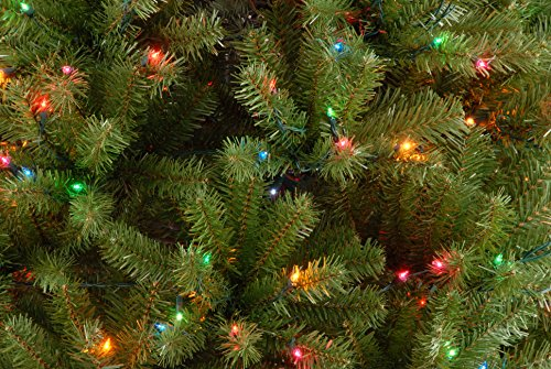 National Tree 7.5 Foot North Valley Spruce Tree with 550 Multicolor Lights, Hinged (NRV7-301-75) by National Tree Company (Image #3)