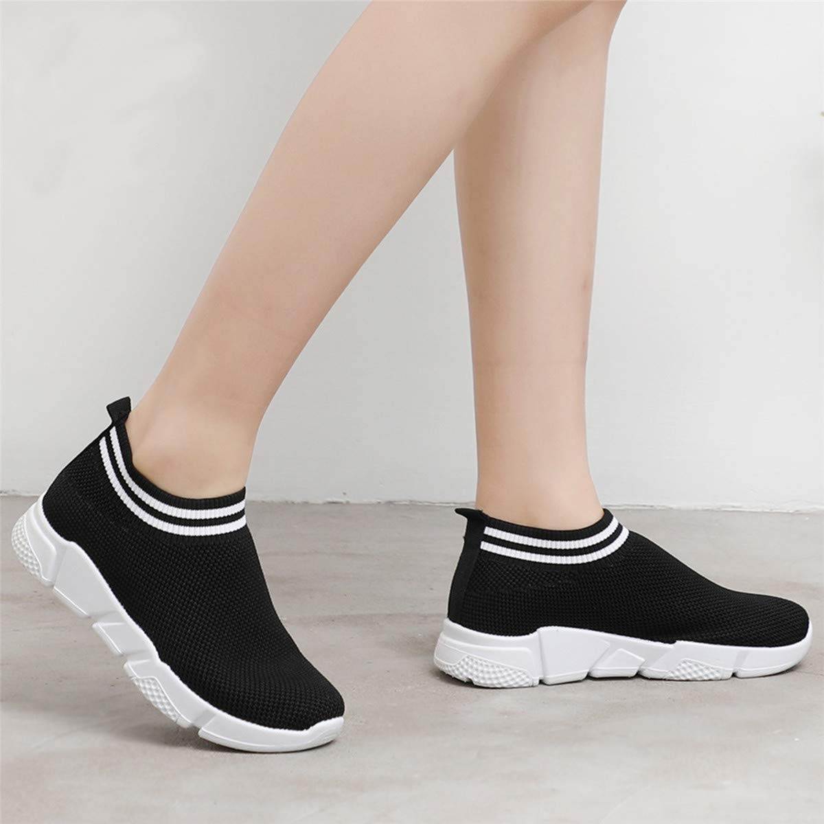 Scurtain Womens Athletic Walking Sock Shoes Lightweight Casual Mesh-Comfortable Work Sneakers