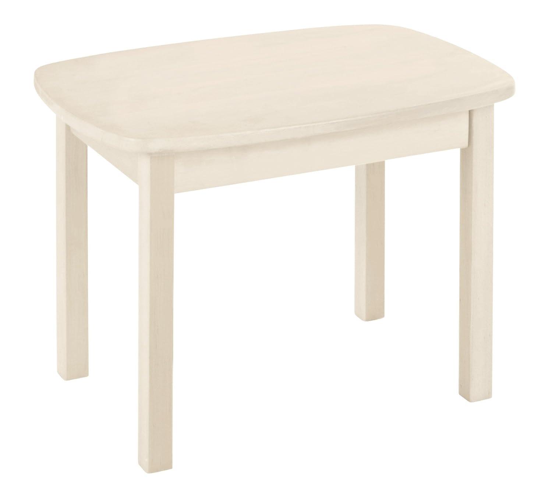 BioKinder Kindertisch Spieltisch Holztisch Levin aus Massivholz Kiefer 75 x 54 x 52 cm weiß lasiert