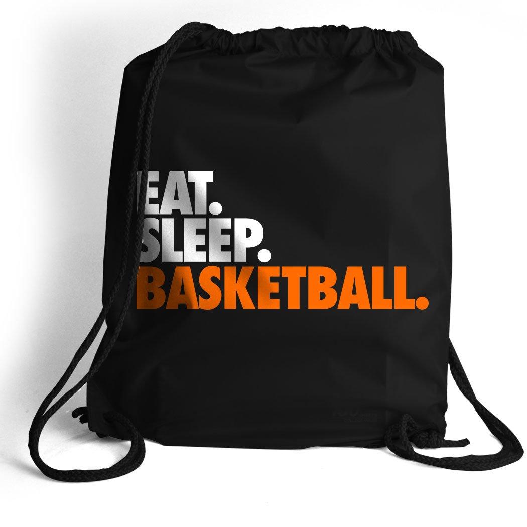 Eat. Sleep. Basketball. Cinch Sack | Basketball Bags by ChalkTalk SPORTS | Black
