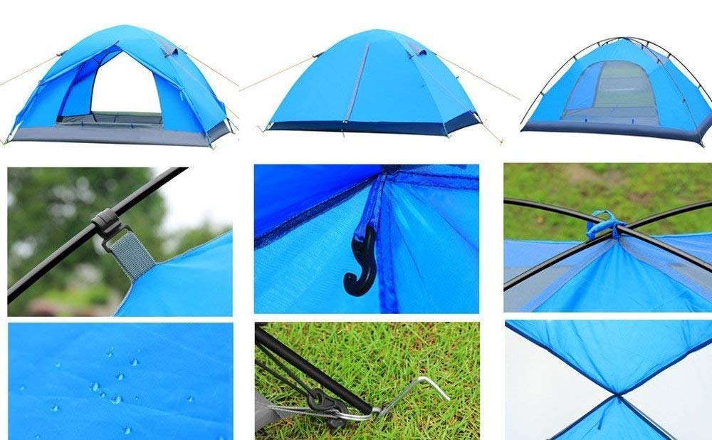 WINMI 2 Person Tent Folding Waterproof Tent Camping Instant Tent for Hiking,Travel,Garden and Outdoor