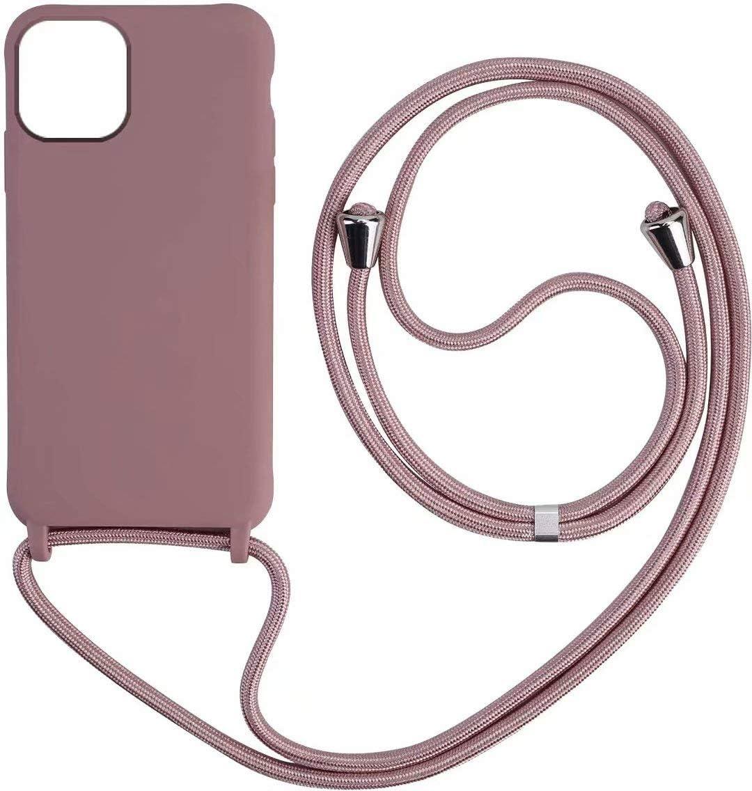 1stfeel Compatible avec iPhone 11 Pro 5.8 Coque Ultra Fine Gel de silice TPU Cover Necklace Bandouili/ère Styl/ée /étui de t/él/éphone avec Cordon