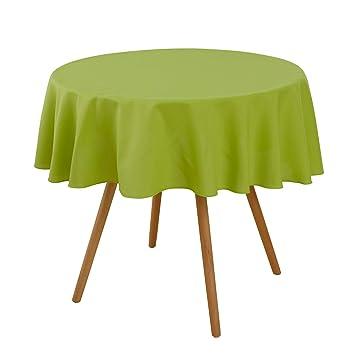 Deconovo Nappe Ronde Verte Decoration Table de Jardin Exterieur ...