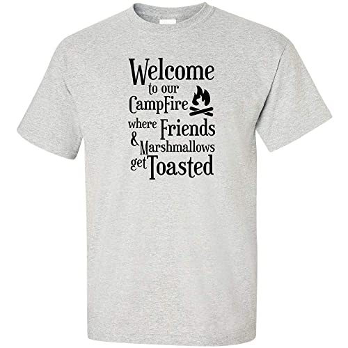 68ccc080 Welcome To Our Campfire Where Friends and Marshmallows Get Toasted Logo 1 T  Shirt Funny Camping Hunting Fishing Summer Time Campfire Beer Camper  Drinking ...