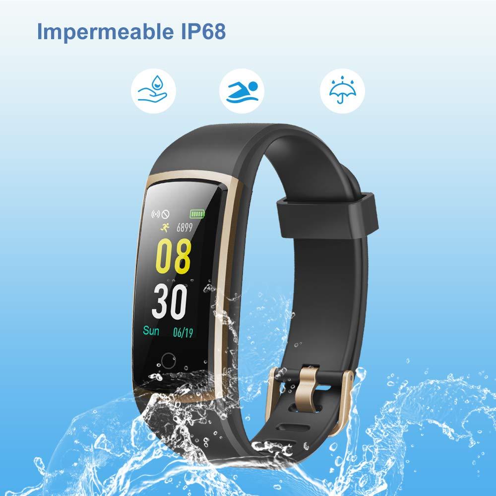 YAMAY Pulsera de Actividad Inteligente Impermeable IP68 con 14 Modos de Deporte,Pulsera Inteligente con Pulsómetro, Blood Pressure, ...