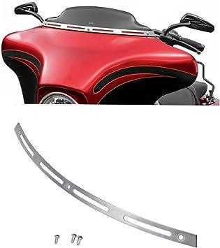 Black Fairing Windscreen Windshield Trim Slot For 1996-2013 Harley Touring