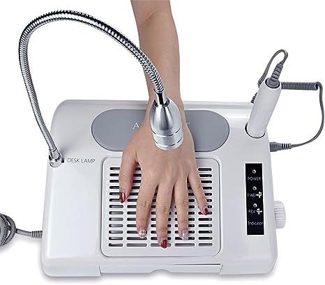 Torno uñas Aspiradora de uñas Secador de uñas Lámpara 3 en 1 ...