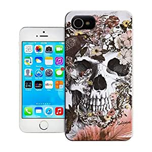 Unique Phone Case Skeleton skull head arts map flowers without skull for other sleeve idea Hard Cover for 5.5 inches iphone 6 plus cases-buythecase