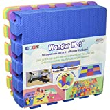 Non-Toxic Wonder Mat 9 Pieces Extra Thick Playmat for Babies