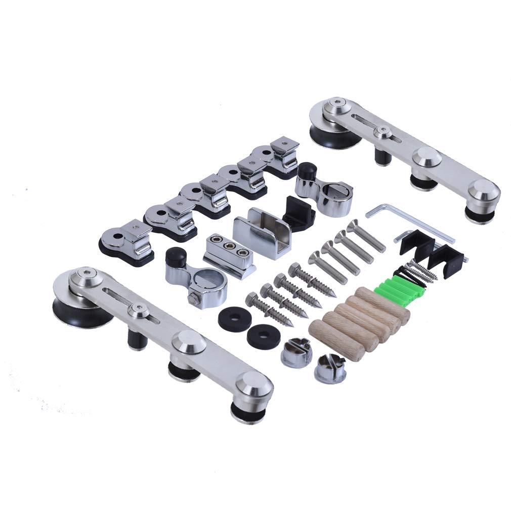 CCJH 8FT-244cm Acier Inoxydable Quincaillerie Kit de Rail Roulette pour Porte Coulissante Ensemble Industriel Hardware kit pour Une Porte Suspendue en Bois