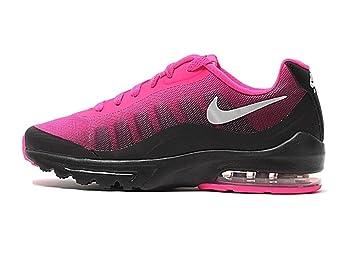 hot sale online da9c3 42d3f NIKE Women s Air Max Invigor Print Running Shoe, Black Metallic Silver-Pink  Foil