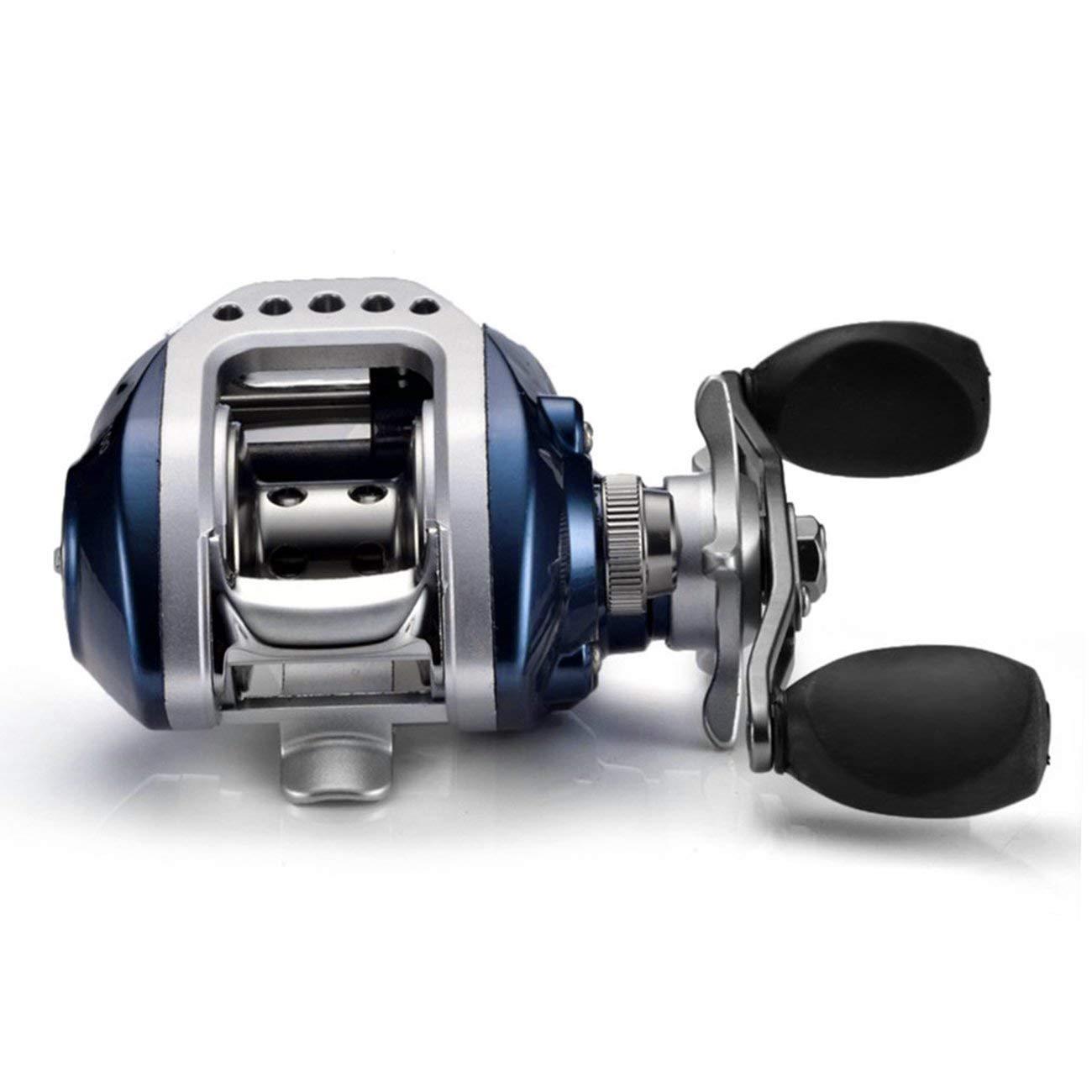 Bleu Droite se puede utilizar con la mano derecha e izquierda Rodamiento de bolas para carrete de pesca con frenos magn/éticos 6,3:1 BenSports AF-103/10/+ 1/BB gran velocidad