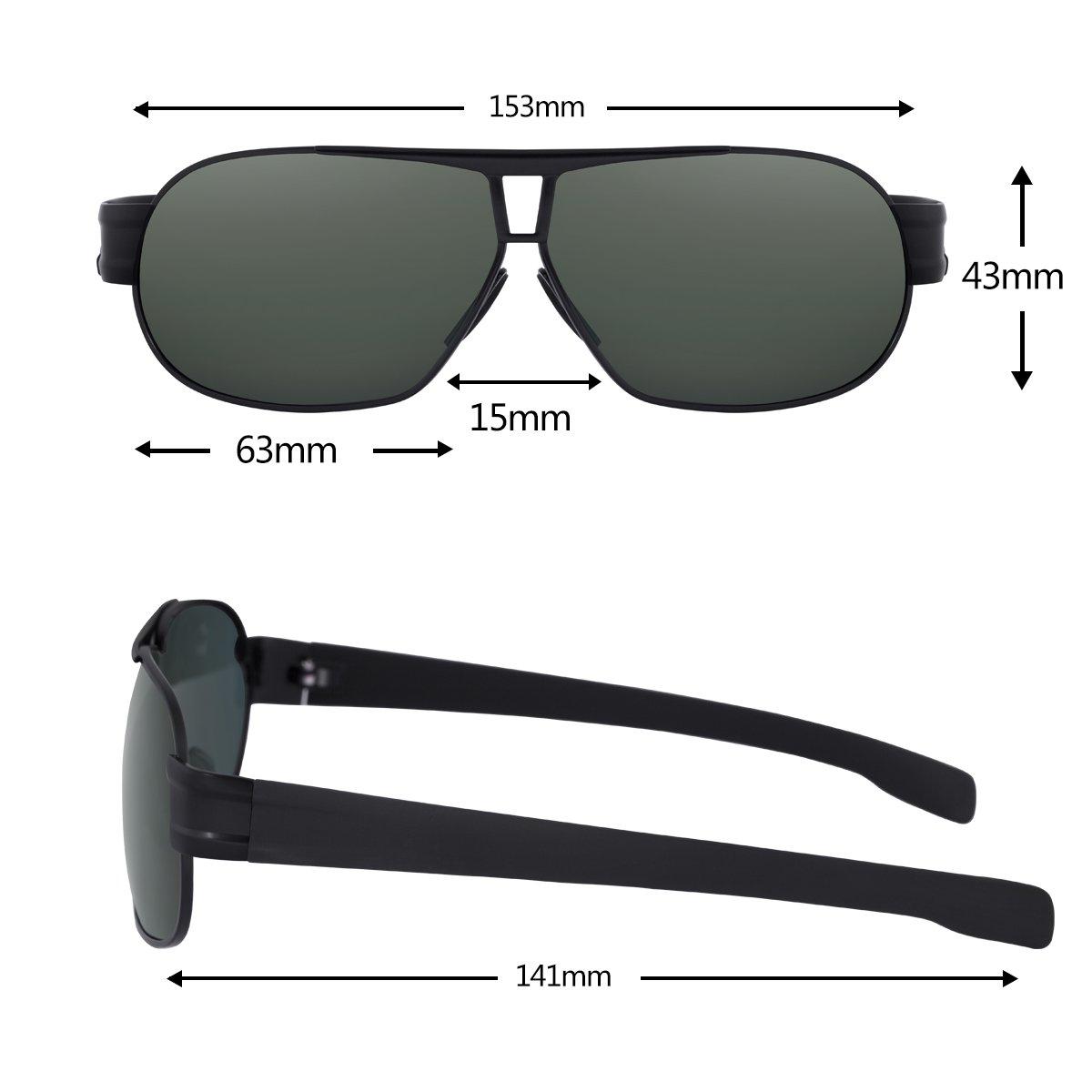 Zealme Polarized Aviator Sports Lightweight Durable Unbreakable Frame Anti Glare Baseball Cycling Fishing GolfRunning Bicycle Polaroid Hiking Sunglasses (Black) 8516