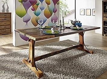 legno massello massiccio mobili legno tavolo da pranzo 180x90 ... - Tavolo Da Cucina In Legno Antico
