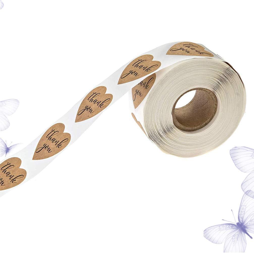 Vosarea kraft danke aufkleber siegeletiketten f/ür dekorative und umschlagversiegelung geschenkpapier valentinstag