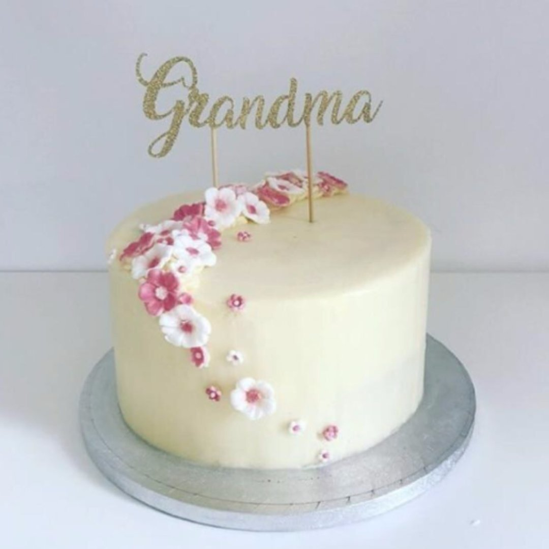 Grandma Birthday Cake Decoration Topper Party Decorations Grandparents Any Glitter Colour