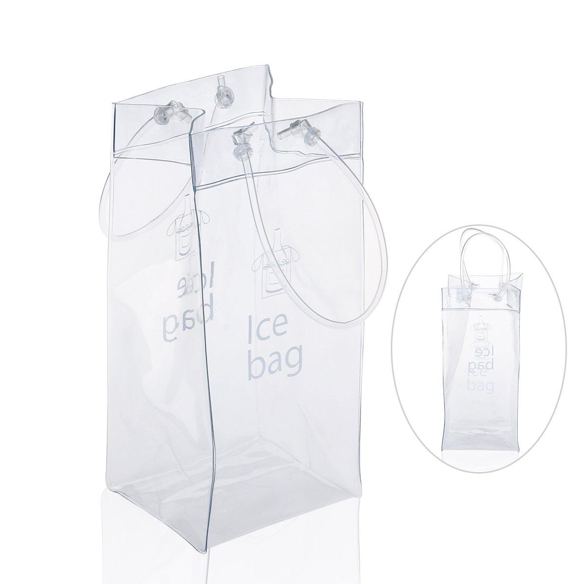 LEORX Bolso de hielo Champagne PVC bolsa vino Bolsa nevera con asa