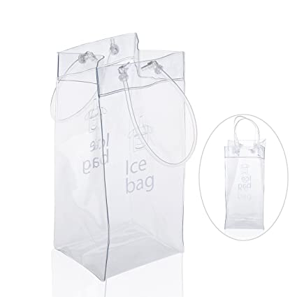 LEORX Bolso de hielo - Champagne PVC bolsa vino Bolsa nevera con asa