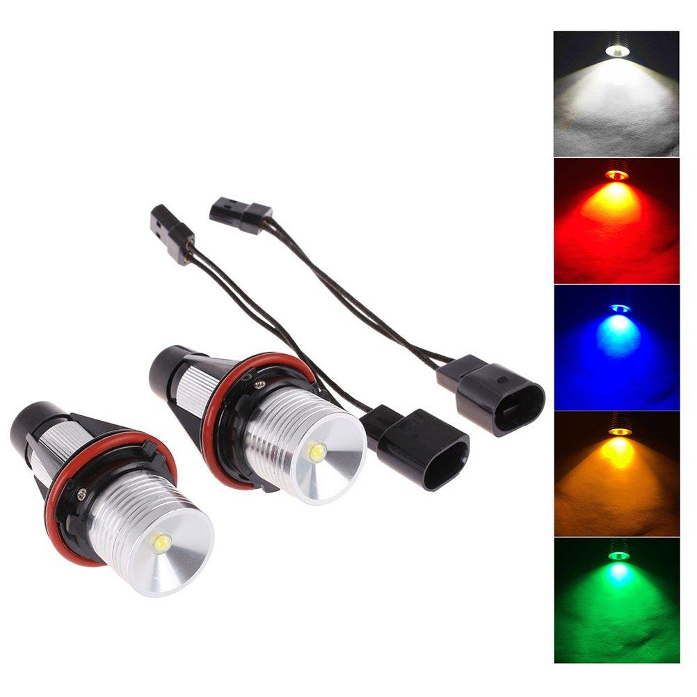 WINOMO 2 PCS E39 5W 12V Angel Eyes Halo Ring Lights 6000K CREE Faros Markers Bulbs (Luz Blanca) 1I10BJUFH2CYT52432N11JZA7