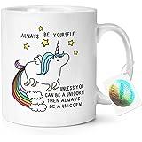 Unicornio siempre en inglés 11 oz taza - té y café de cerámica diseño de carcasa