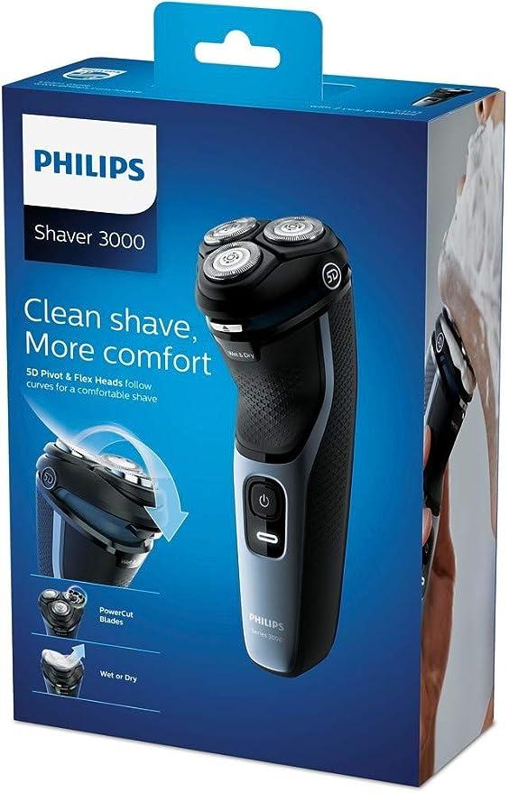 Philips Norelco Shaver 3100 Afeitadora eléctrica en seco o húmedo ...