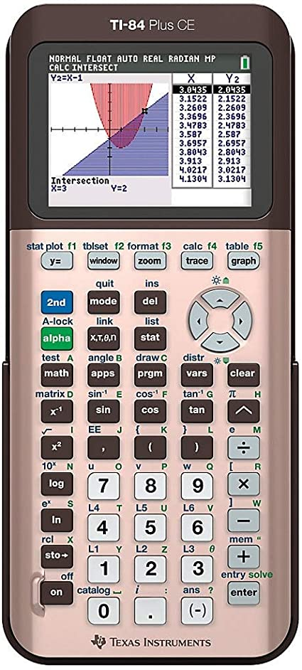 Brand New Texas Instruments TI-84 Plus CE Color Graphing Calculator Rose Gold