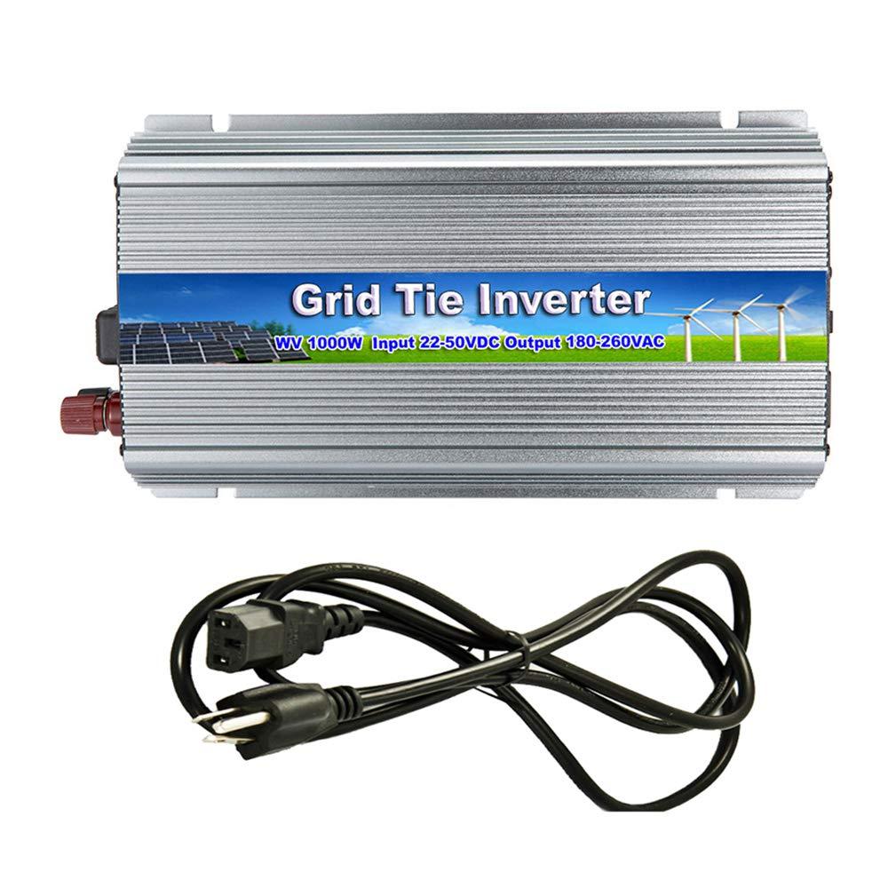 iMeshbean 1000W Grid Tie Power Inverter DC 10.8-30V /22V-50V to AC 110V / 220V MPPT Pure Sine Wave Inverter for Solar Panel System (DC 22V-50V-AC 220V)