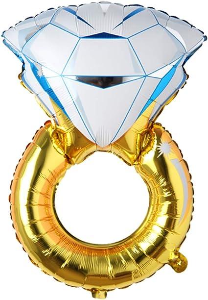 "43/"" Huge Diamond Engagement Ring Balloon Wedding Bridal Bachelorette Gold Foil"
