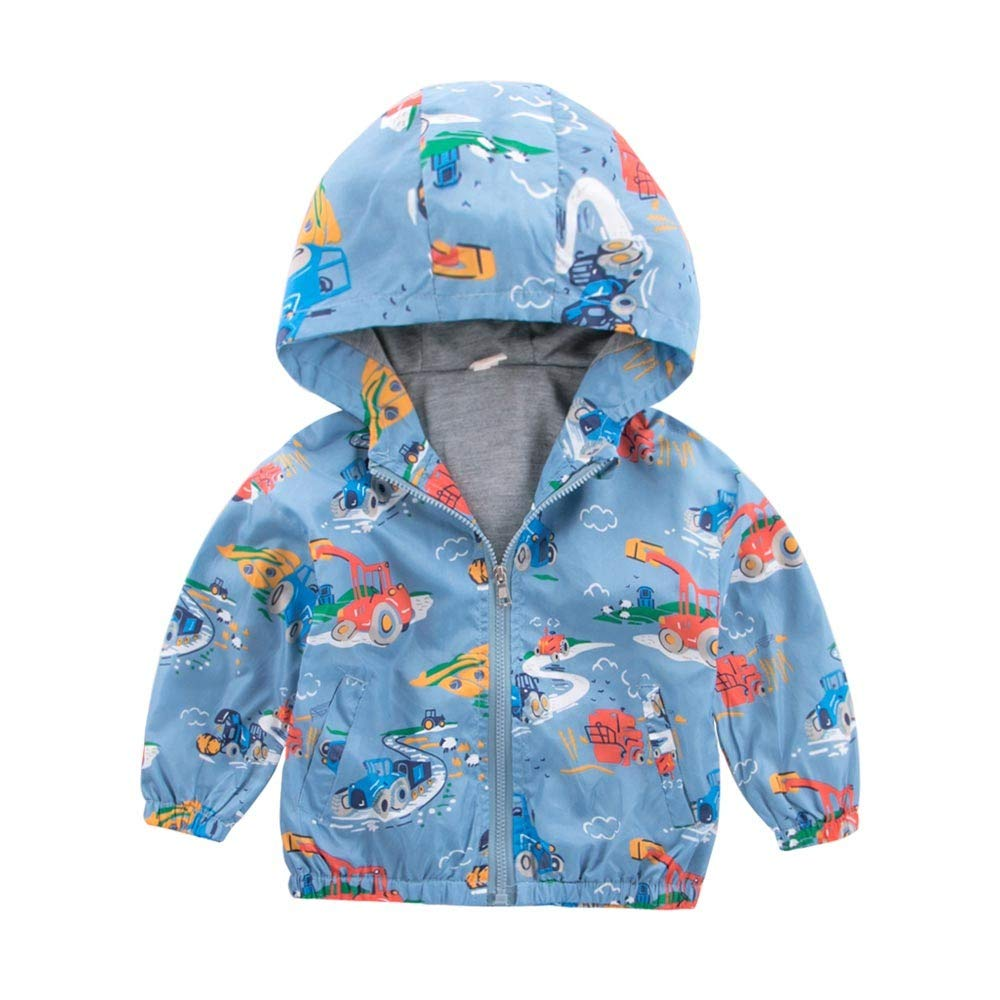 Hstore Baby Boys Girls Baby Boys Girls Romper Hoodie Windbreaker Clothes Jacket Outerwear Clothes