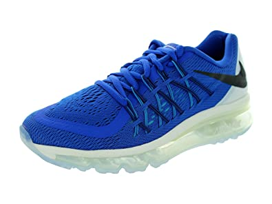 a43c356671 Nike Air Max 2015 (GS) Boys Running Shoes 705457-401 Game Royal White
