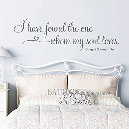 Amazon.com: BATTOO Master Bedroom Wall Decal - I Have Found ...