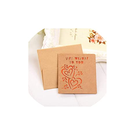 Amazon.com: Tarjeta de felicitación, papel Kraft, tarjeta de ...