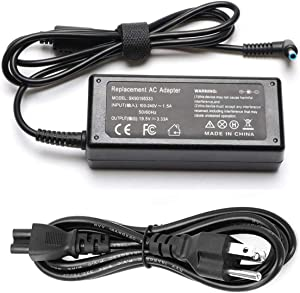 Amanda 65W AC Adapter Laptop Charger Replacement for HP Envy 13 15 17 X360 15-1039wm 15-1033wm 15-w117cl 15-w237cl 15m-cn0011dx 15m-bp111dx 15m-bq121dx 17m-bw0013dx Notebook PC Power Supply Cord