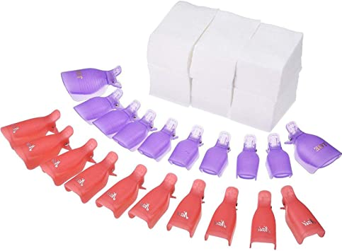 20 piezas de clips de uñas de plástico con 420 piezas de ...