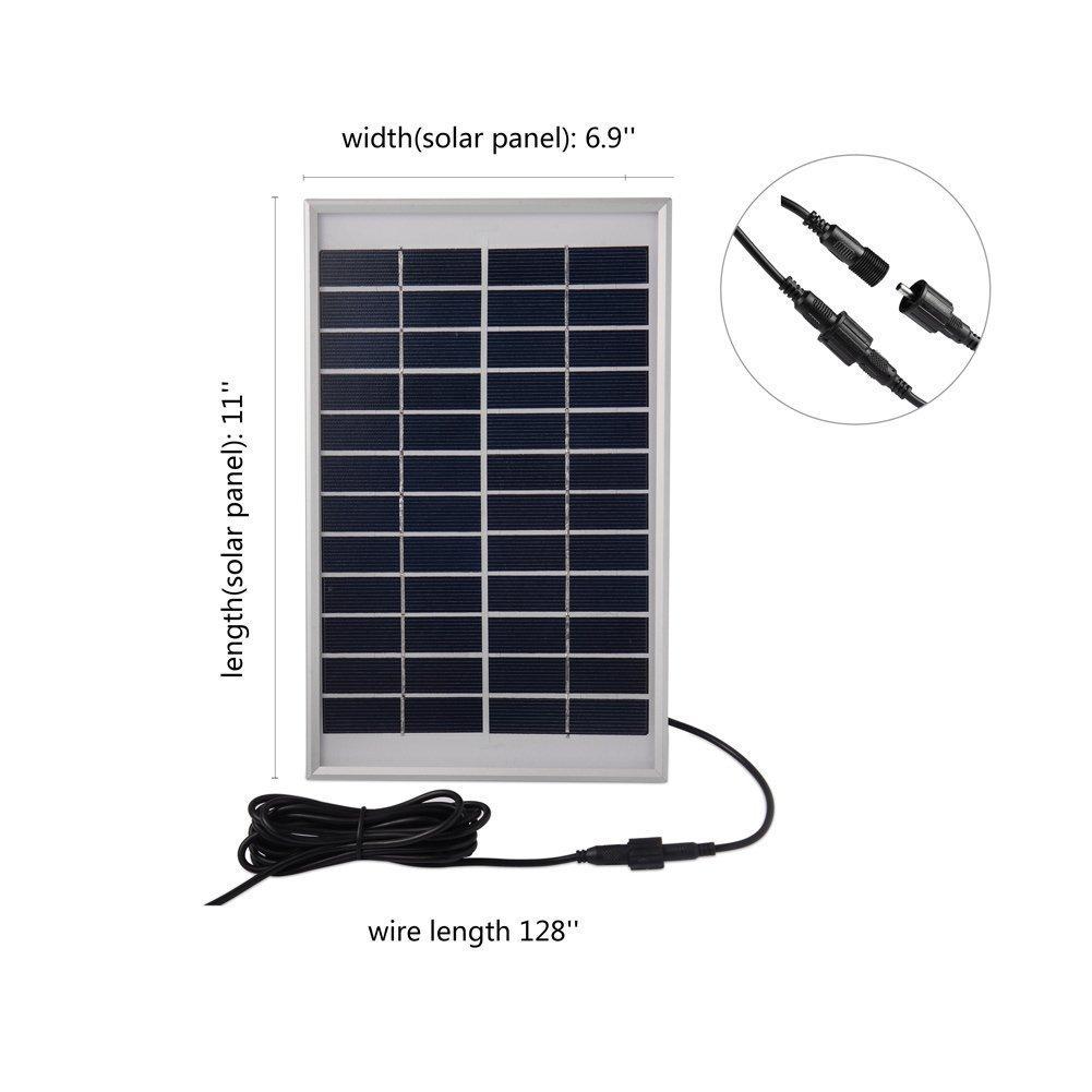 Topnma 5 W Bomba de Agua de Panel de Energía Solar para Piscina Jardín Fuentes,con Bomba de agua, para el jardín, el patio, estanque, etc.