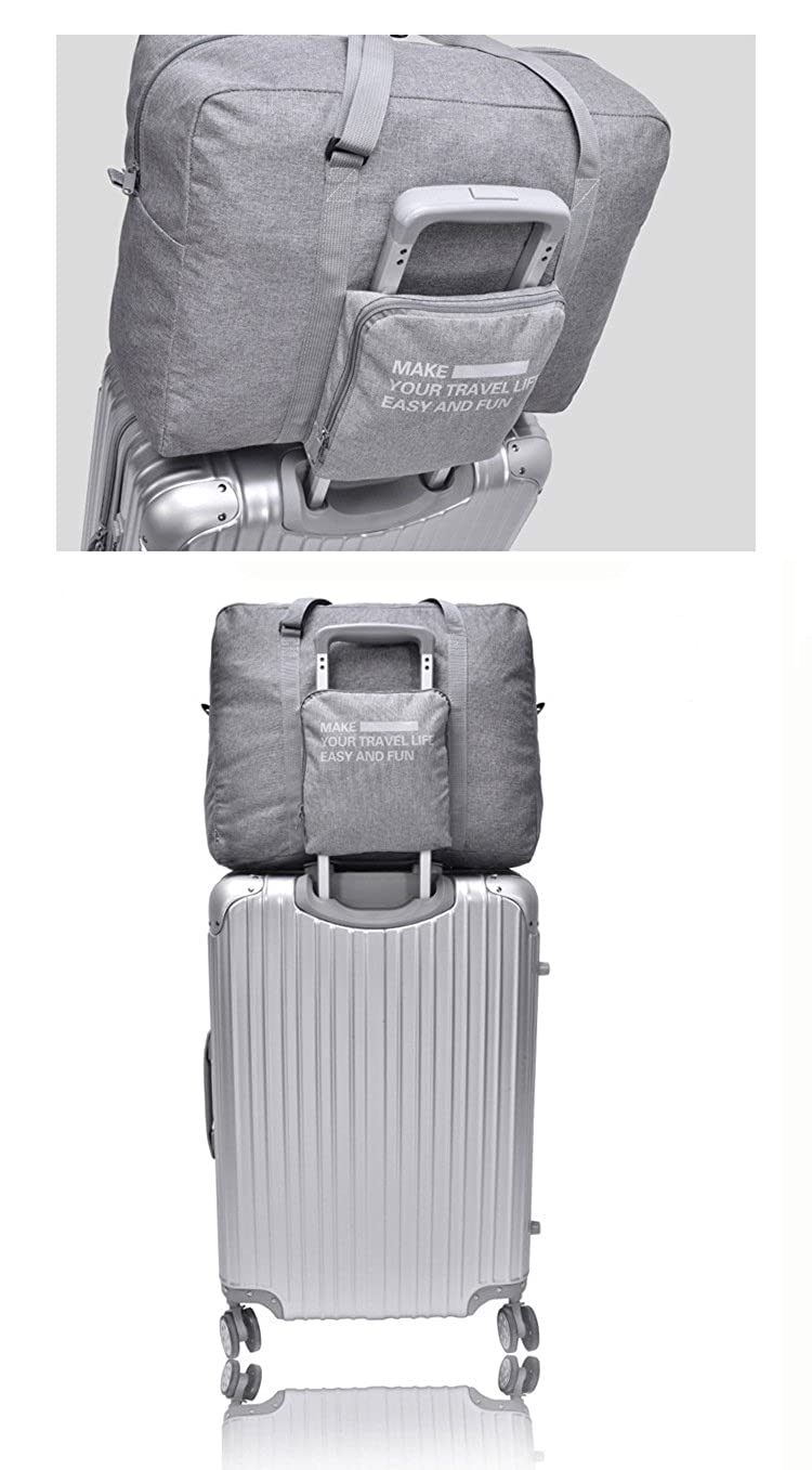 Bi-Burning Foldable Storage Duffle Bag Waterproof Lightweight Handbag Travel Bag