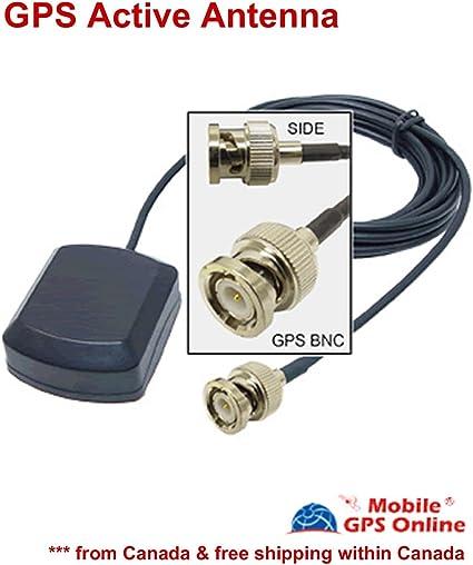 Garmin GPS BNC macho Antena externa amplificadora para GPS Mapa ...