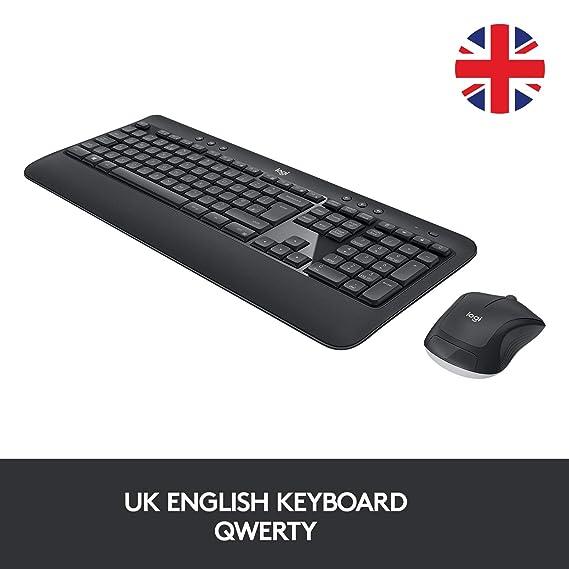 Logitech MK540 - Combinación de Teclado y ratón inalámbricos, Larga duración de Pilas - QWERTY (UK distribución) Negro: Logitech: Amazon.es: Informática