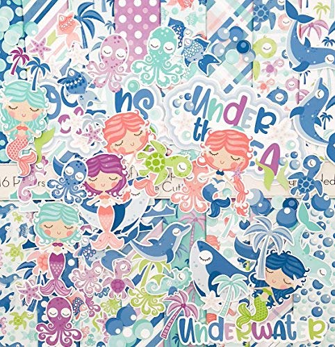 Oceans of Fun Set - Matching Die Cuts & Paper Kit by Miss Kate Cuttables - 16 Single - Sided 12