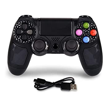 Mando PS4 inalámbrico distancia con cable de carga para PS4/PS4 Pro, color negro: Amazon.es: Electrónica